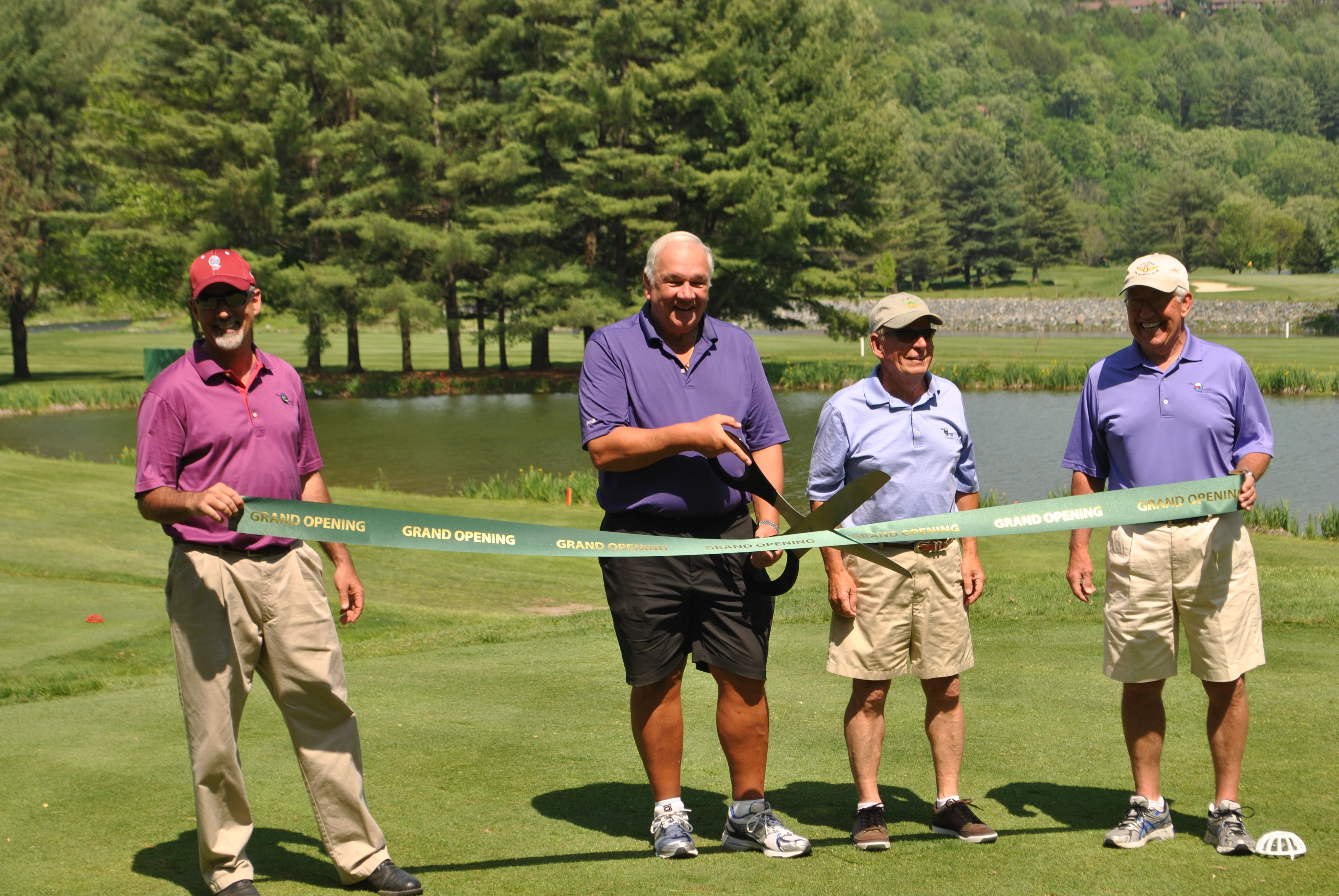 Our Grand Re-opening after a 36 hole renovation, following Hurricane Irene.