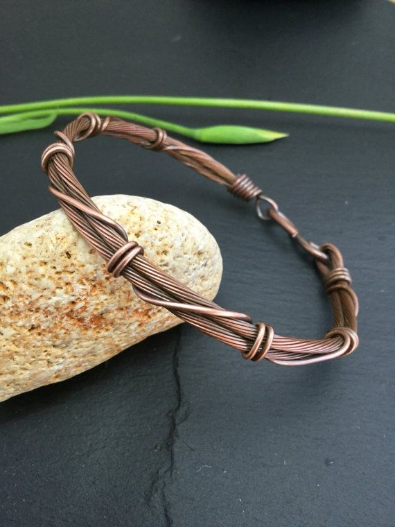 0310a1b4b79cf Men copper bangle unisex bracelet men jewelry by wireandbeyond808 ...