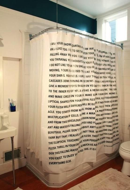 Literary Shower Curtain If I Didnt Already Love My Weird As Much Do Id Totally Buy This One