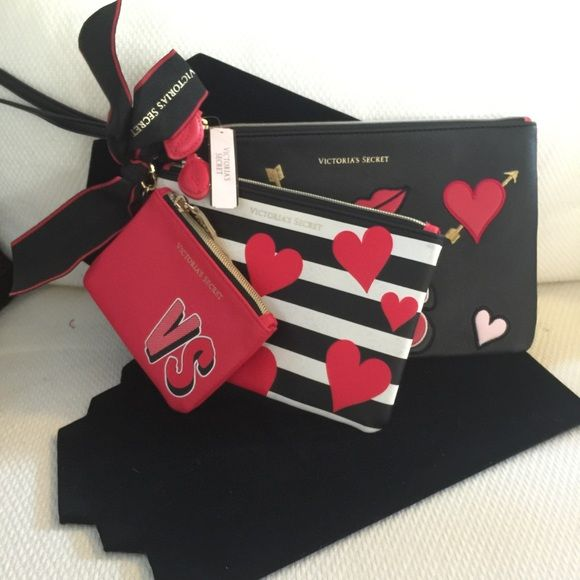 Victoria's Secret bag Brand new Victoria's Secret bag come all 3 bag Victoria's Secret Bags Cosmetic Bags & Cases