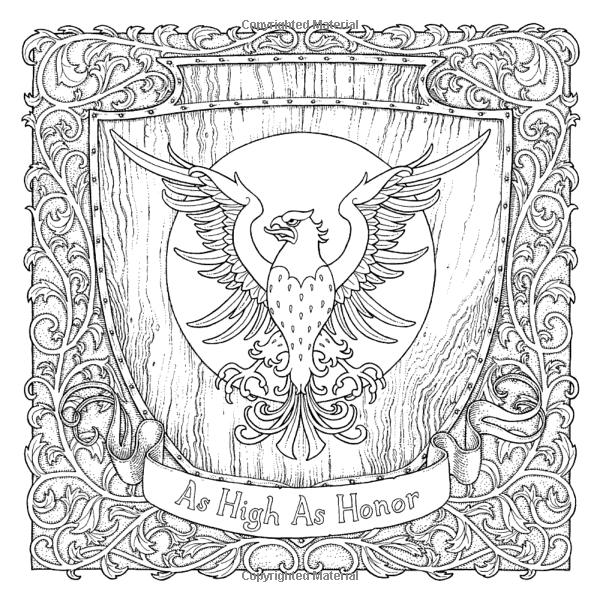As High Honor A Game Of Thrones Colouring Book Illustrated By Tomislav Tomic