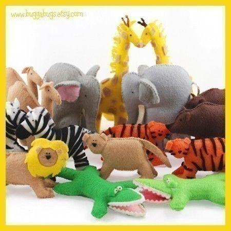 Noah S Ark Animals Pdf Pattern Giraffes Elephants Etsy Noahs Ark Animals Noahs Ark Felting Projects