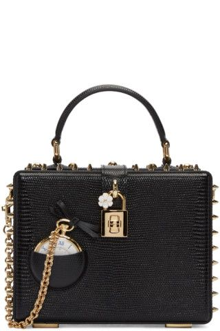 18088a0469 Dolce   Gabbana - Black Pocket Watch Box Bag