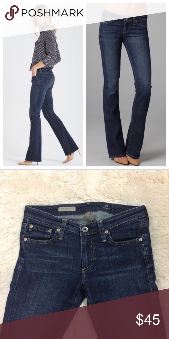 a4e32037609 AG Adriano Goldschmied Angel Boot Cut Jeans Like New. AG Angel bootcut jeans  in a dark wash. Size 27, 7.5