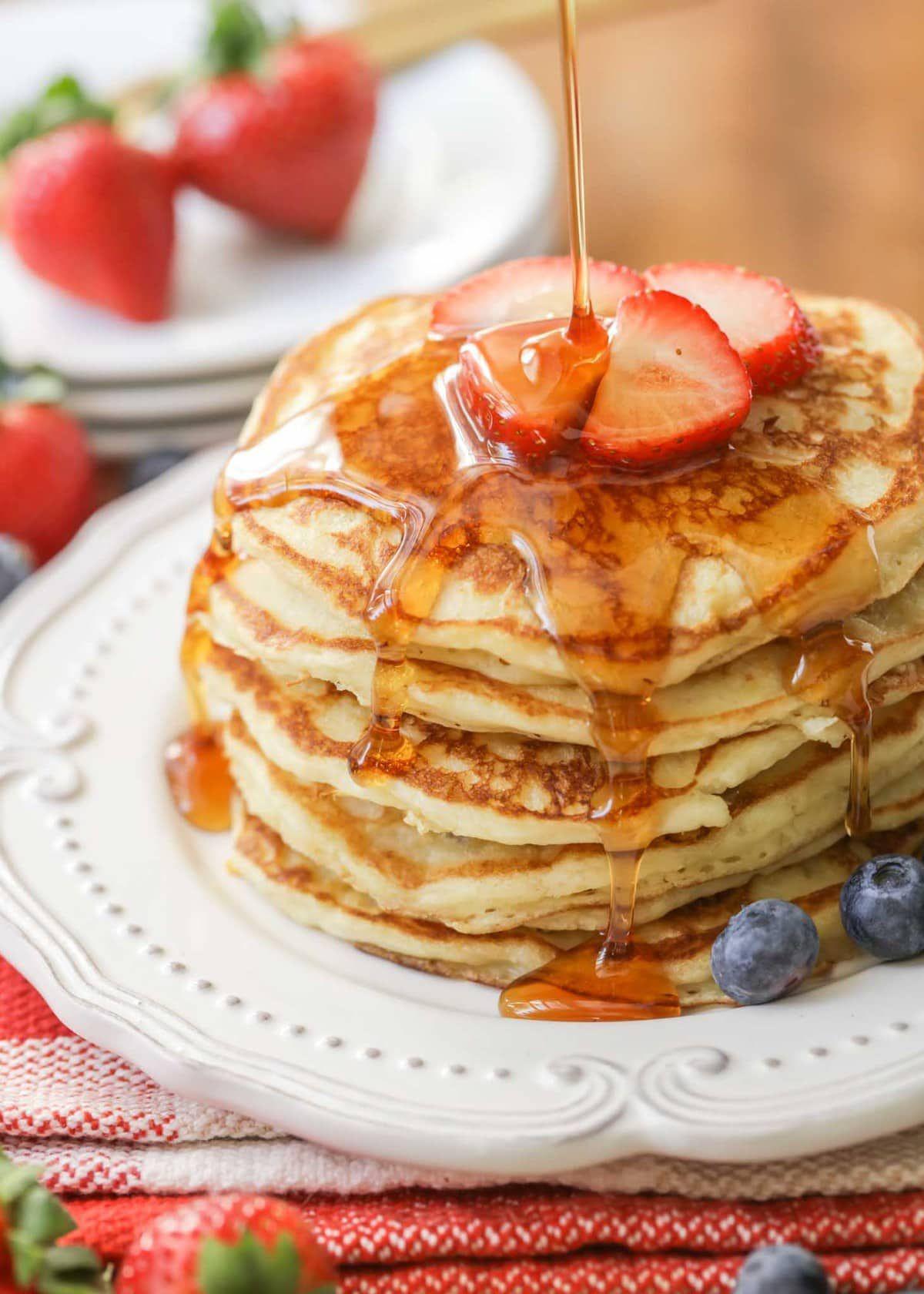 Easy pancake recipe in 2020 homemade buttermilk