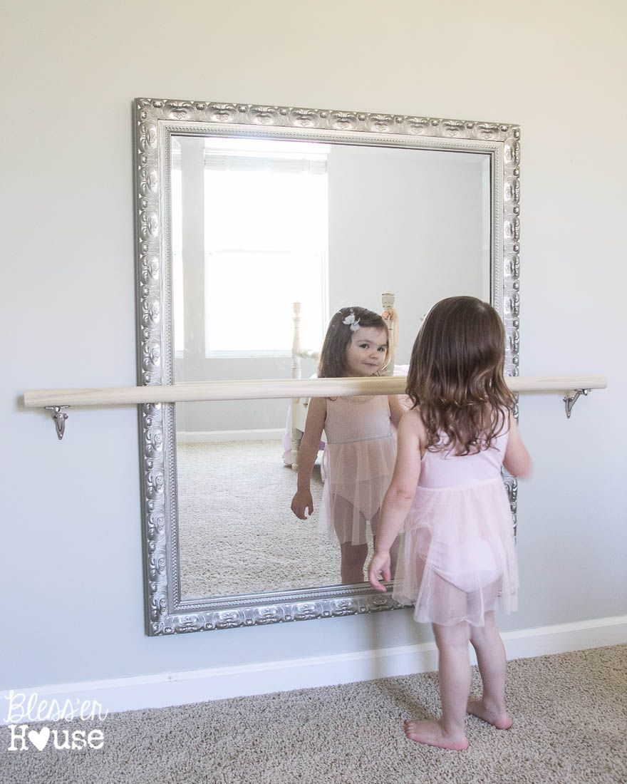 DIY Ballet Barre and How to Hang a Heavy Mirror | Ballet barre ...