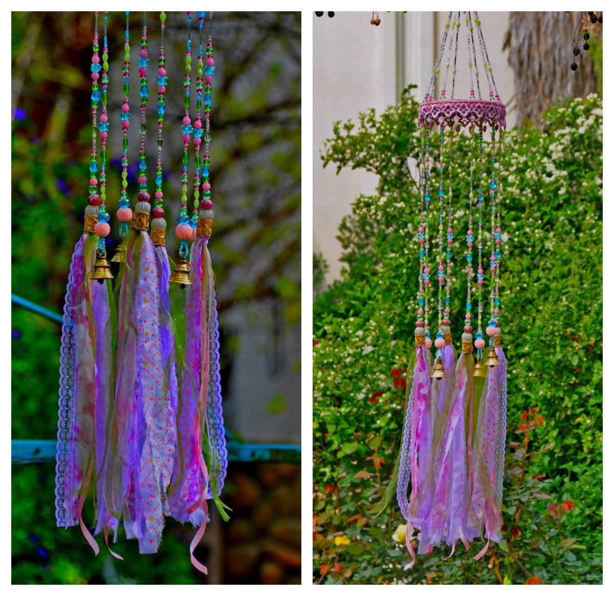 Unique wind chimes-outdoor wind chimes-garden wind chime-glass wind ...