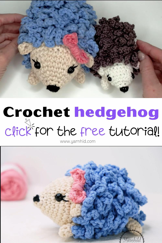 Photo of Crochet hedgehog pattern. Free video tutorial