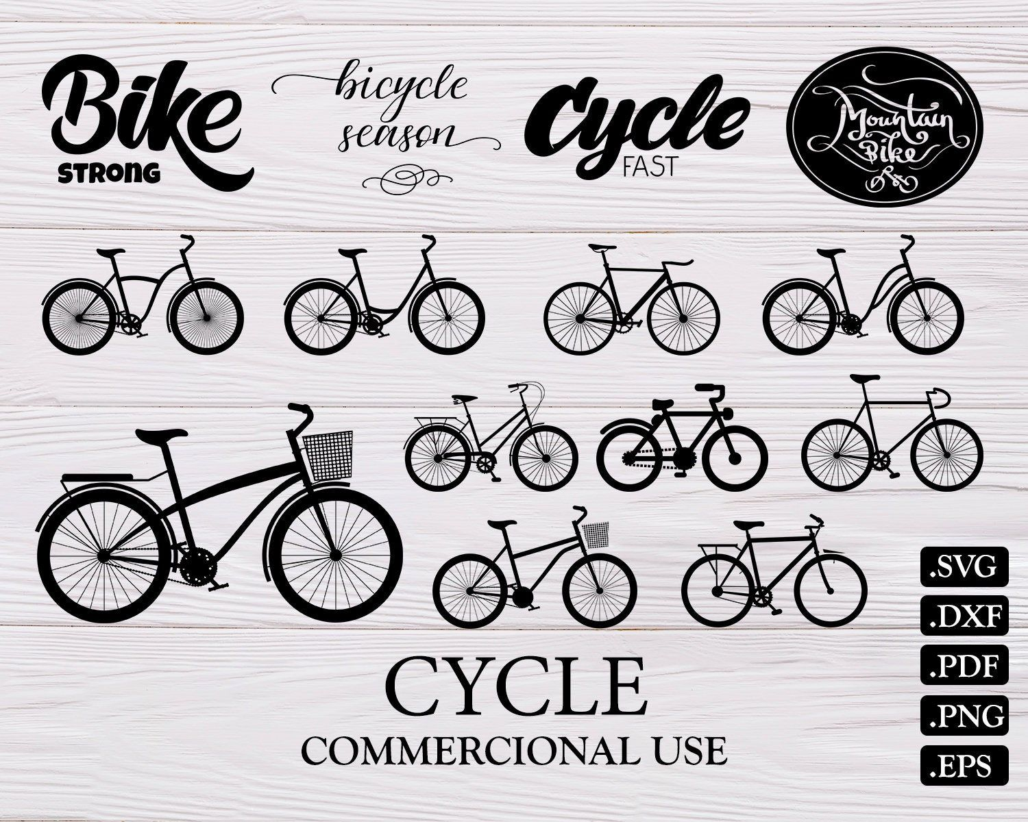 Bike Svg Cycling Dxf Biking Svg Vector Silhouette Bike Eps Bicycle Dxf Bicycle Svg Cut File Cycling Svg File