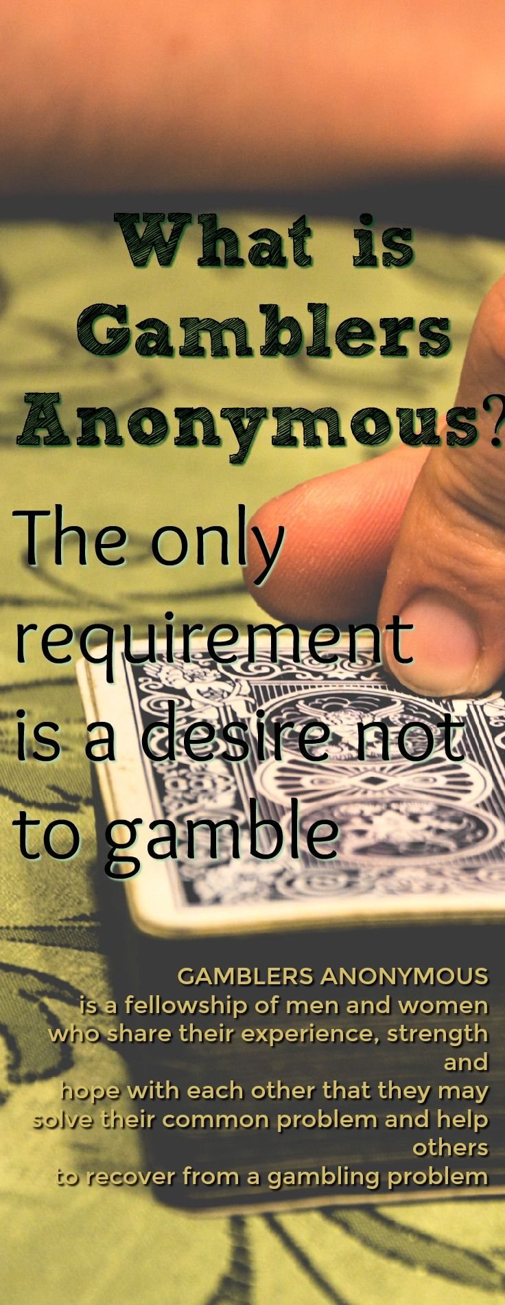 Help for My Gambling Addiction Vinny s His Gamblers