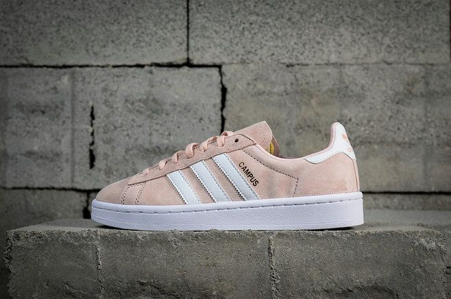 547f713bb7e2 Mode Adidas Campus Beams Ice Pink White blanc BY9845 Youth Big Boys Sneakers