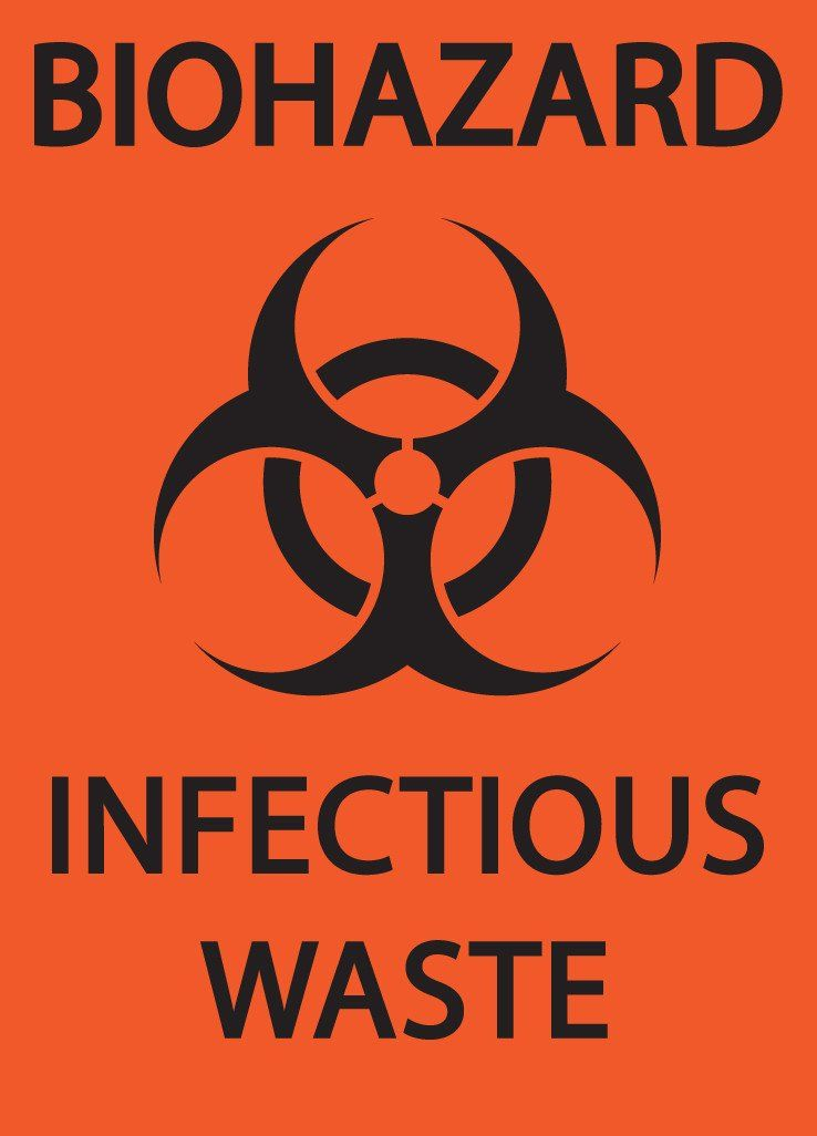 Biohazard Wsymbol Infectious Waste Eco Biohazard Signs And Labels