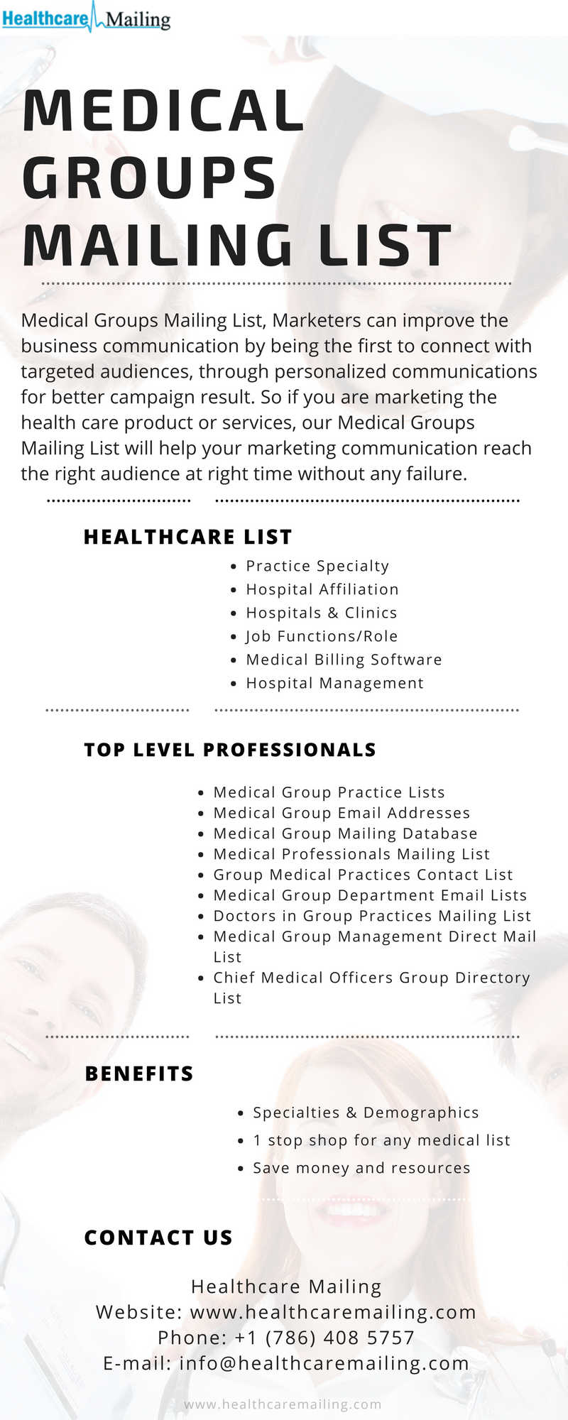 Healthcare Mailing Medical Groups Mailing List Helps To Improve