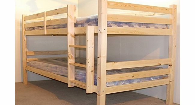 Everest Heavy Duty Bunk Bed Double Bunkbed 4ft 6 Twin Bunk Bed