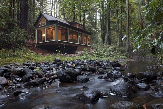 Spaces We Love : Creekside Cabin In Calistoga, California | The Joinery |  Portland,