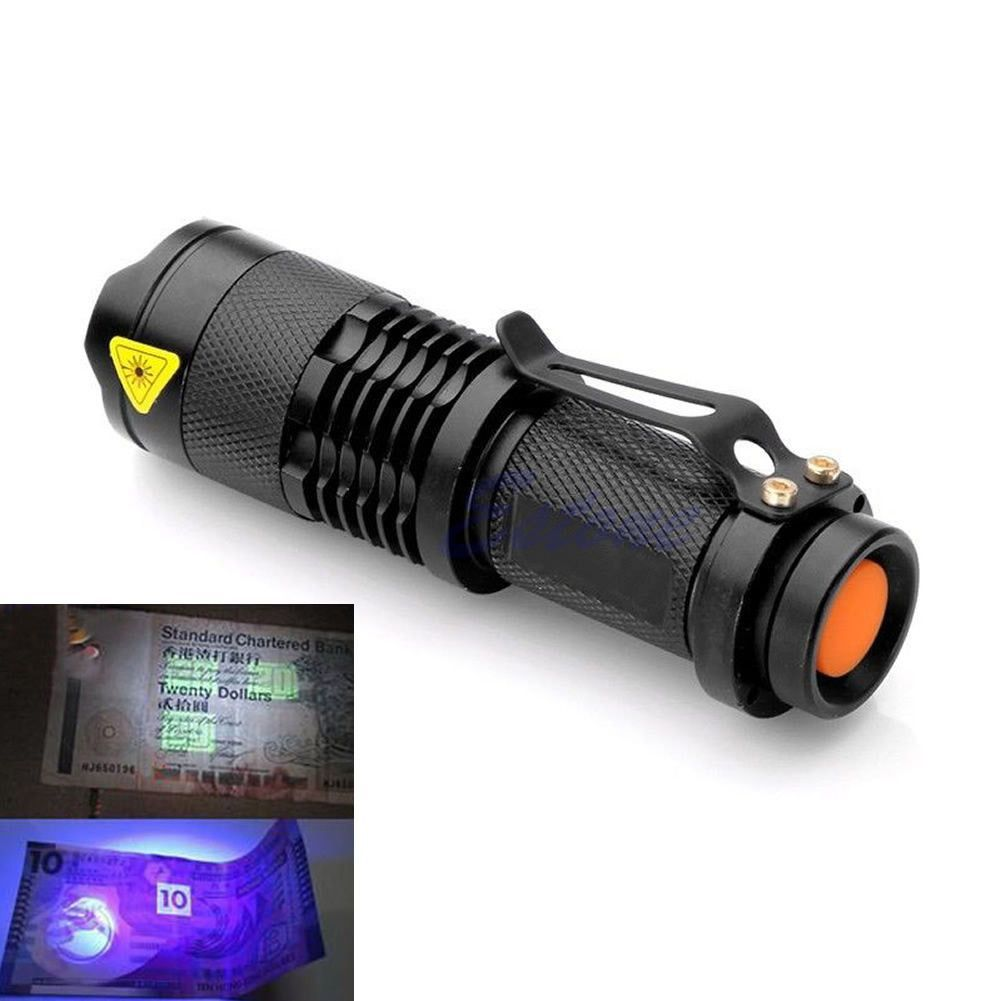 NEW Purple Violet UV LED Light 395nm torch Lamp 3 Modes FREE SHIPPING