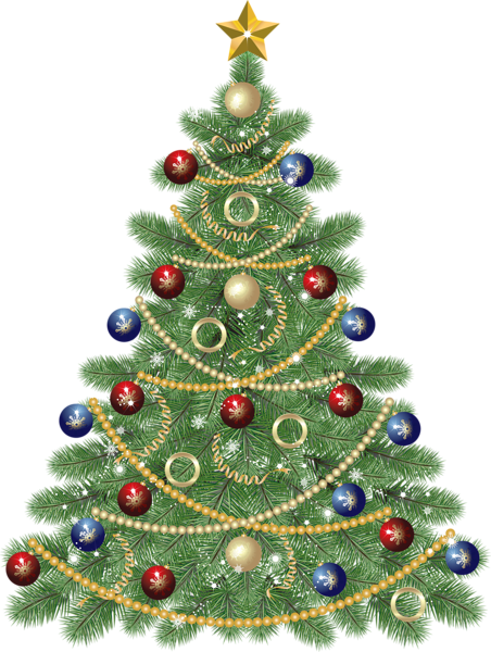 Large Transparent Christmas Tree With Star Clipart Christmas Tree Images Christmas Tree Clipart Christmas Ornament Sets