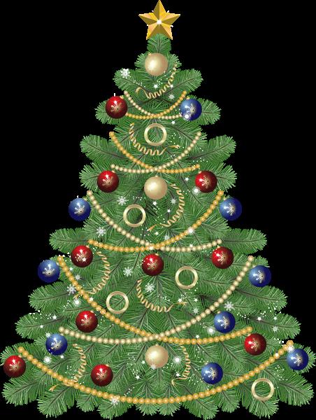 large transparent christmas tree