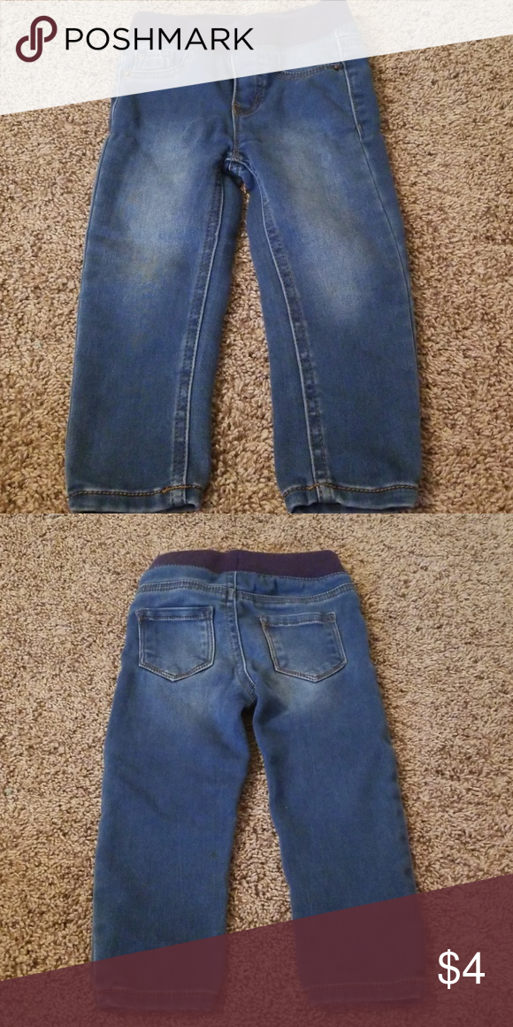 7 Cat/& Jack Boys Skinny Rip Medium Blue Jeans