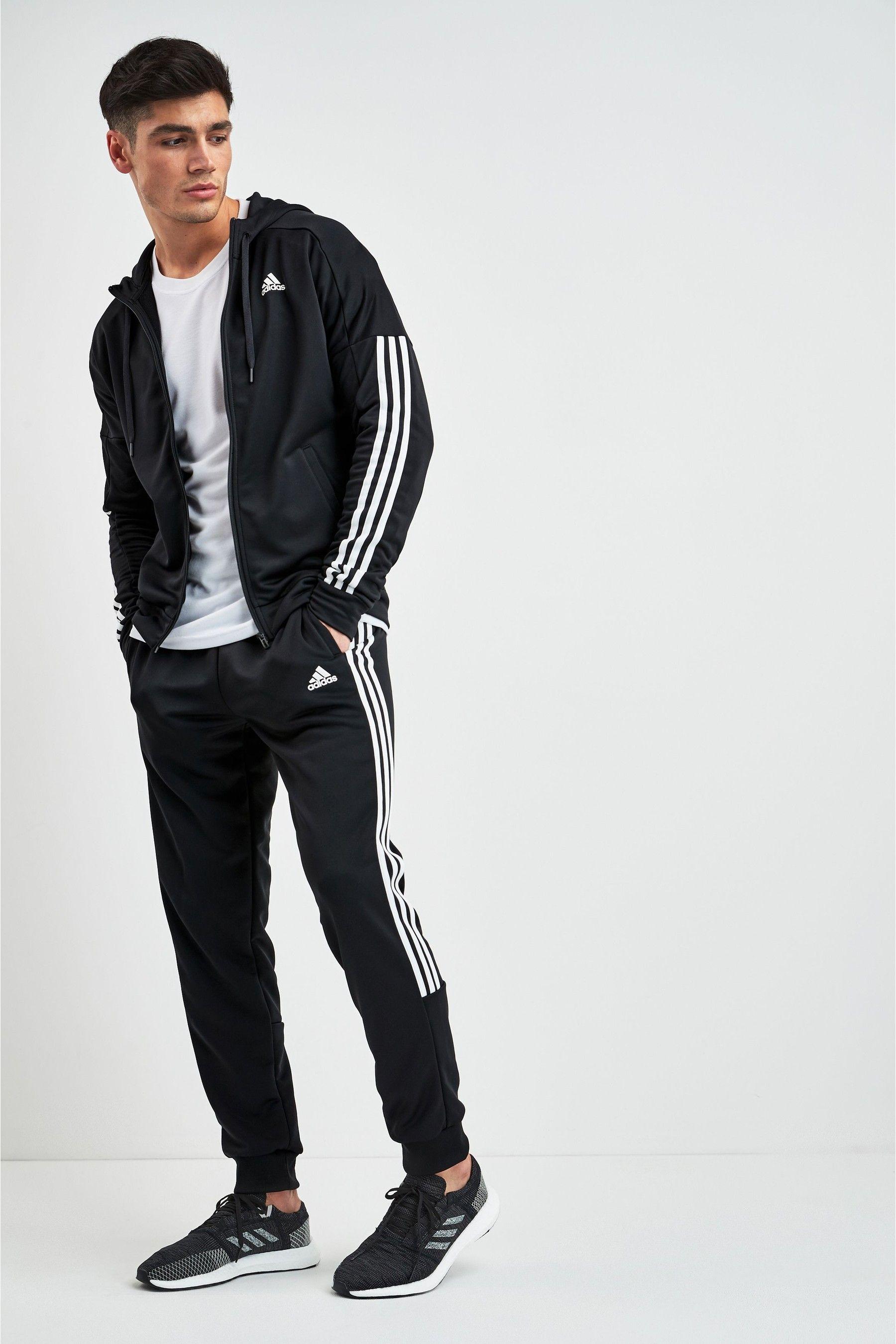 Mens adidas Game Time Tracksuit - Black