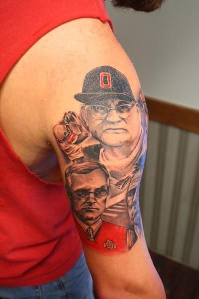 osu coaches mural osu buckeye tattoo tattoos pinterest tattoo sweet tattoos and amazing. Black Bedroom Furniture Sets. Home Design Ideas