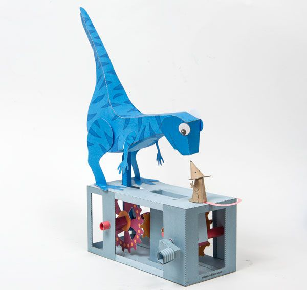 Rise Of The Mammals Robives Mouse Dinosaur Papercraft