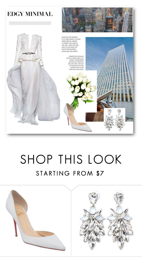 """""""Urban Wedding"""" by dezaval ❤ liked on Polyvore featuring Zuhair Murad, Christian Louboutin and Forever 21"""
