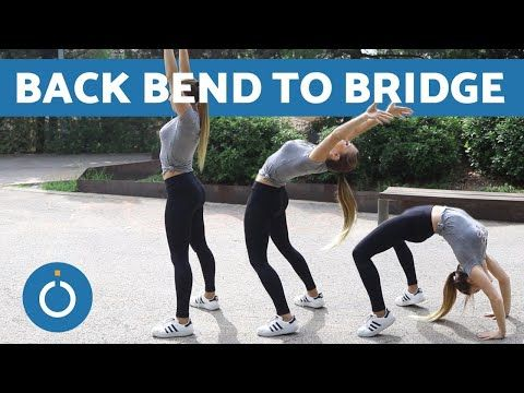 how to back bend into a bridge  warm up exercise