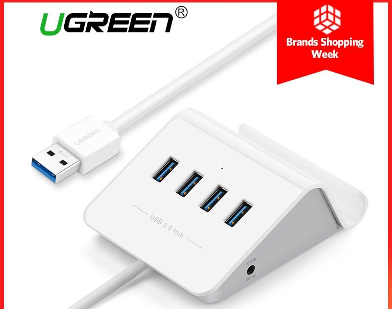 Discount This Month Ugreen Usb 3 0 Hub With Phone Holder 4 Port