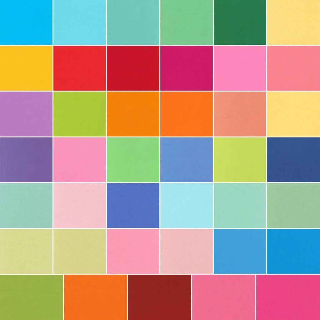 Kona Cotton Solids New Bright Charm Square 41 5-inch Squares Charm Pack Robert