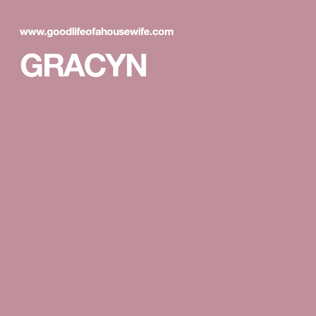 Gracyn name meaning