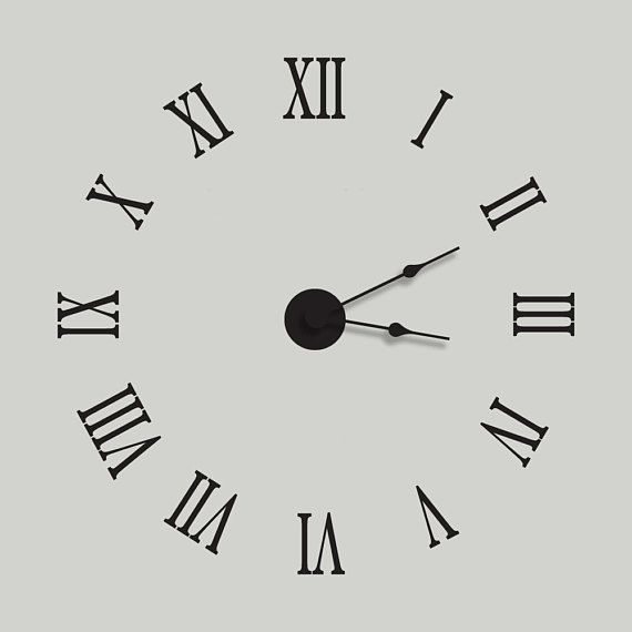 In Usa Large Wall Clock Vinyl Wall Decal Clock Extra
