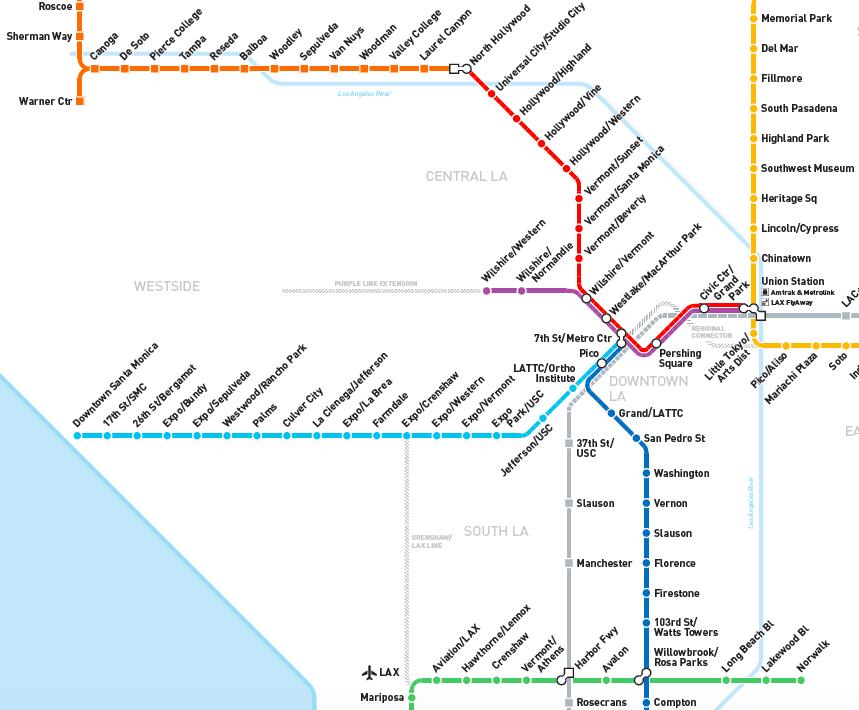 LAs New Train Line Is Looking Like A GameChanger For Traffic - Sweden tunnelbana map