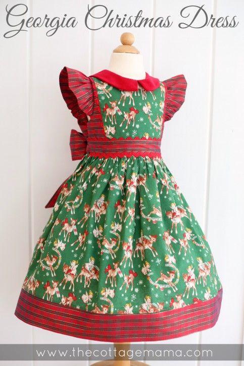 Georgia Vintage Christmas Dresses The Cottage Home Girls Christmas Dress Pattern Vintage Christmas Dress Toddler Christmas Dress