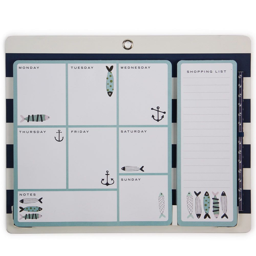 sardines meal planner notepad from Paperchase