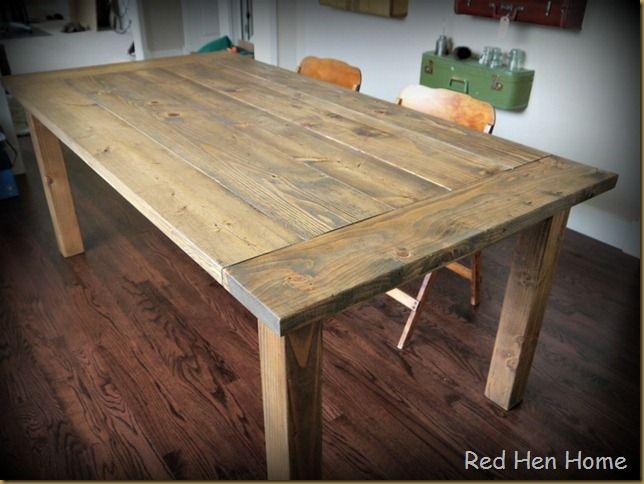 farmhouse table using l brackets - Farmhouse Table For Sale