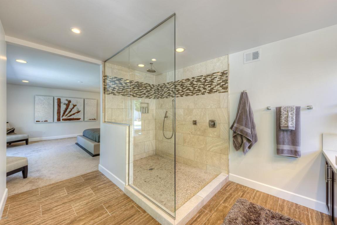 9457 N 82nd Street Scottsdale 85258 Contemporary House Master Bathroom Walk In Shower