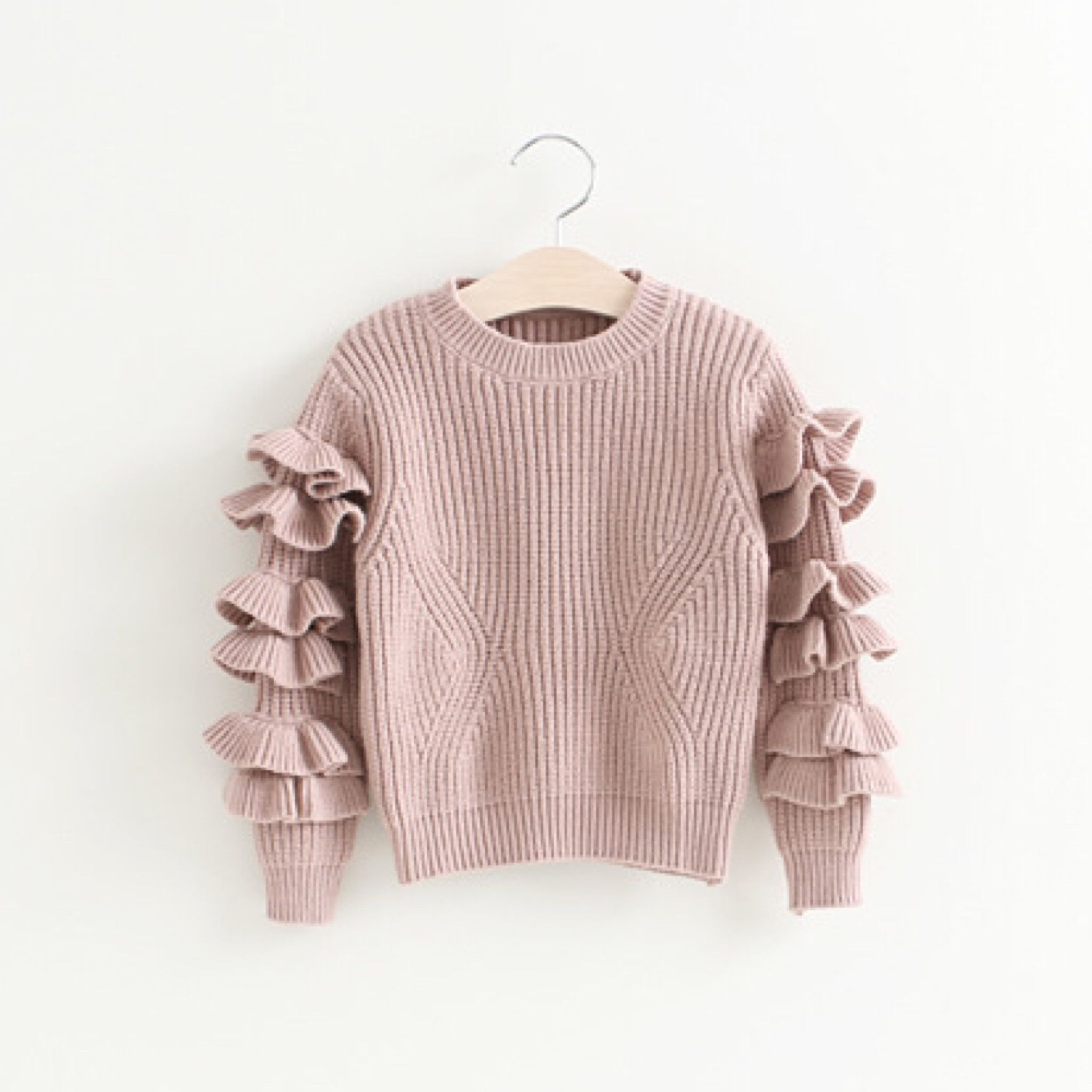 Maddie ~ Ruffle Sleeved Sweater