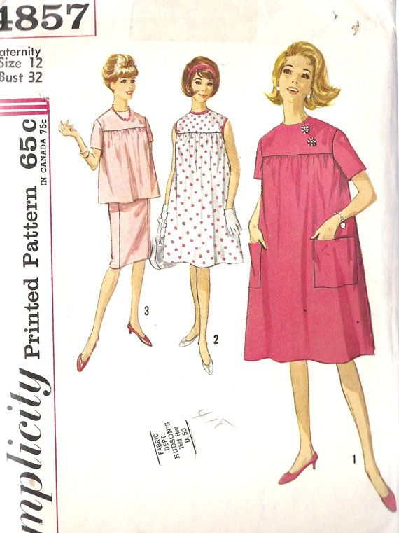 1960\'s Misses maternity pattern - Back when it wasn\'t proper to show ...