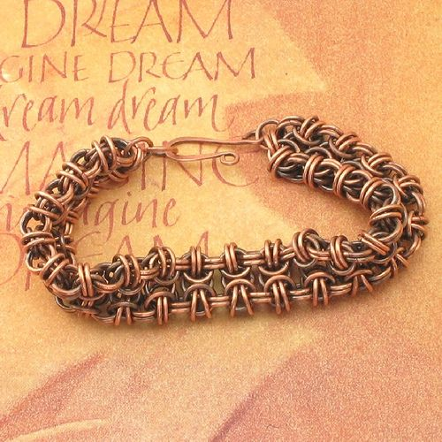 Handmade Beez to Butterflies Copper Chainmaille Bracelet