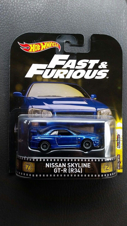 R34 HOT WHEELS 2017 FAST /& FURIOUS NISSAN SKYLINE GT-R