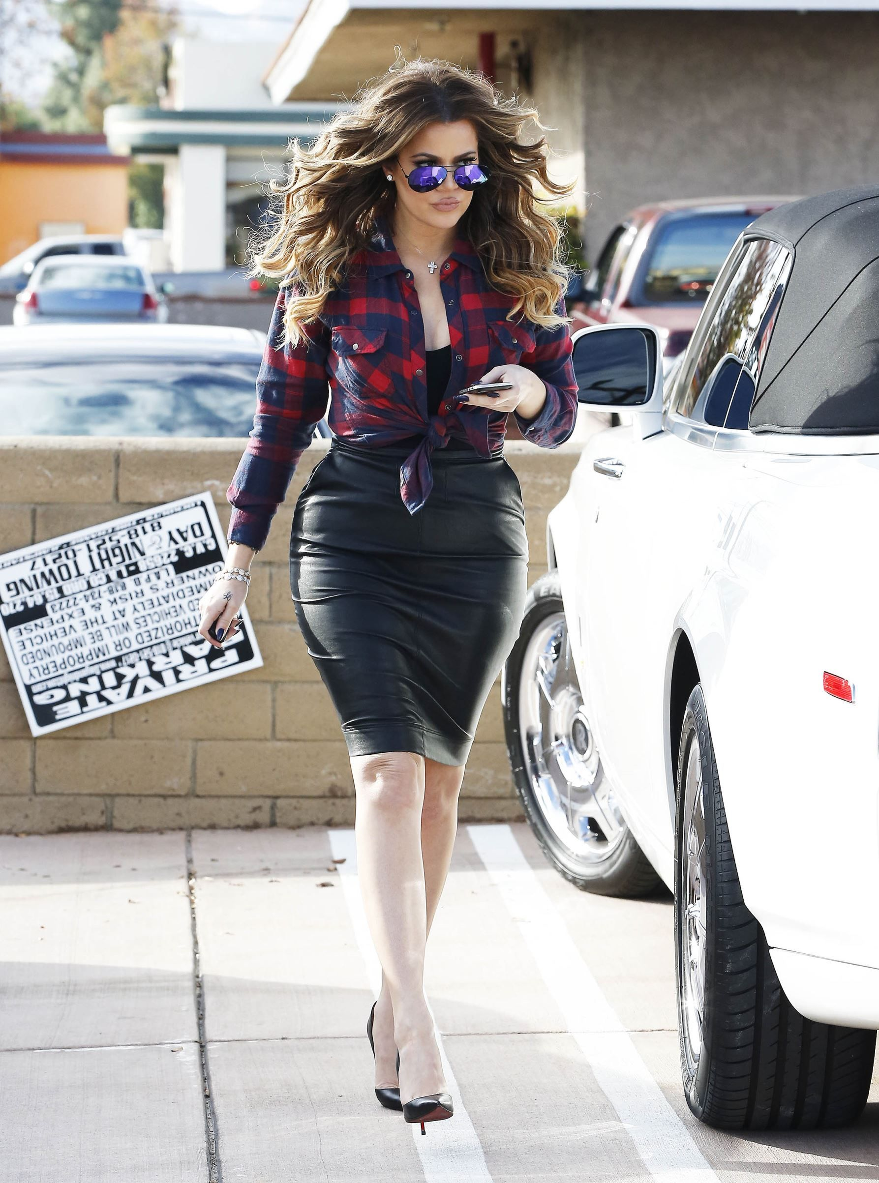 Khloe kardashian flannel shirt  Celeb style hits and misses for December   Fall Style