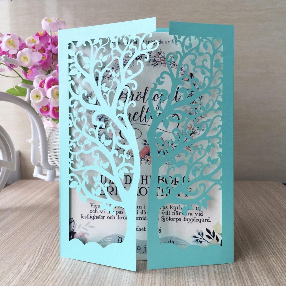 Tiffany Blue Wedding Invitations Kits: Popular Tiffany Blue Wedding Invitations-Buy Cheap Tiffany