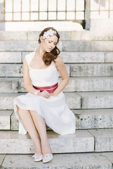noni 2014 lilo- brautkleid mit carréeausschnitt und kleinem ...