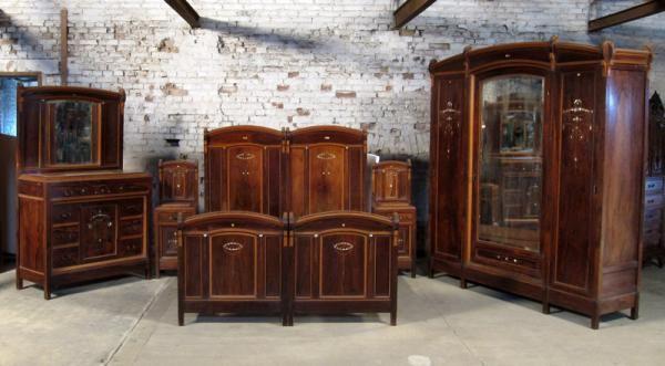 Jugendstil Schlafzimmer aus Palisander Zauberhaftes Schlafzimmer ...