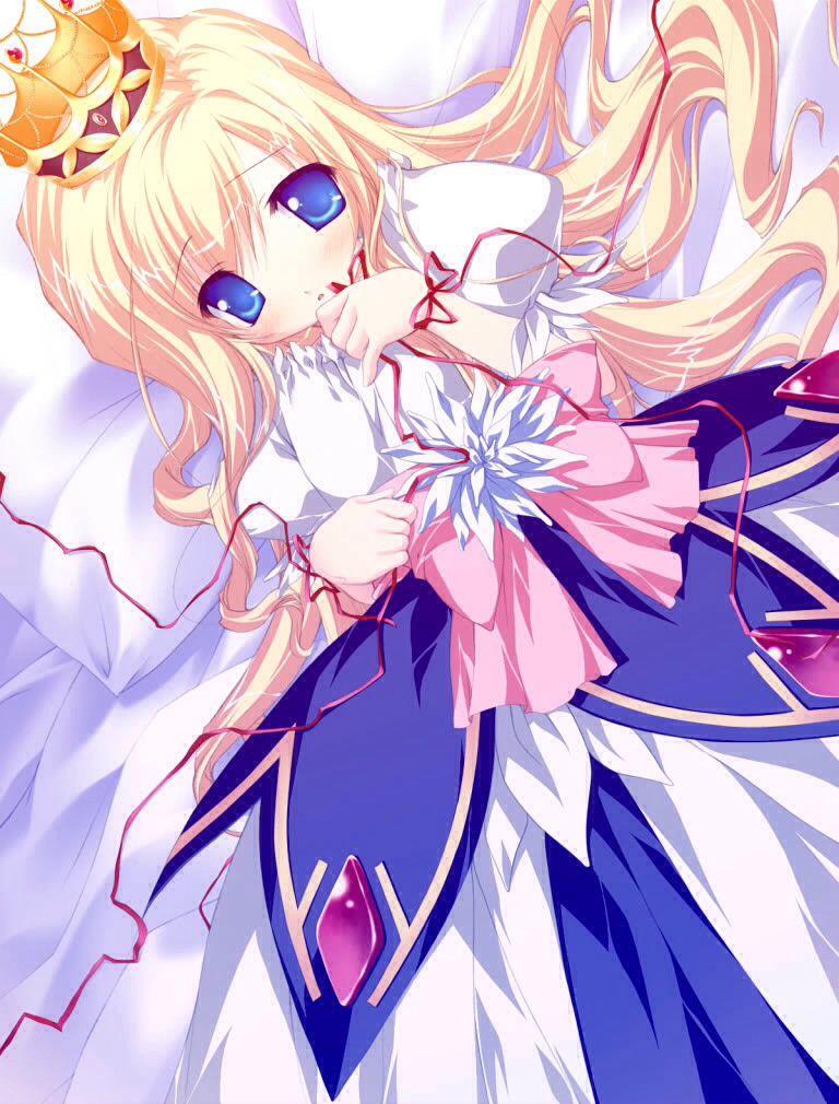 anime girl blond hair manga