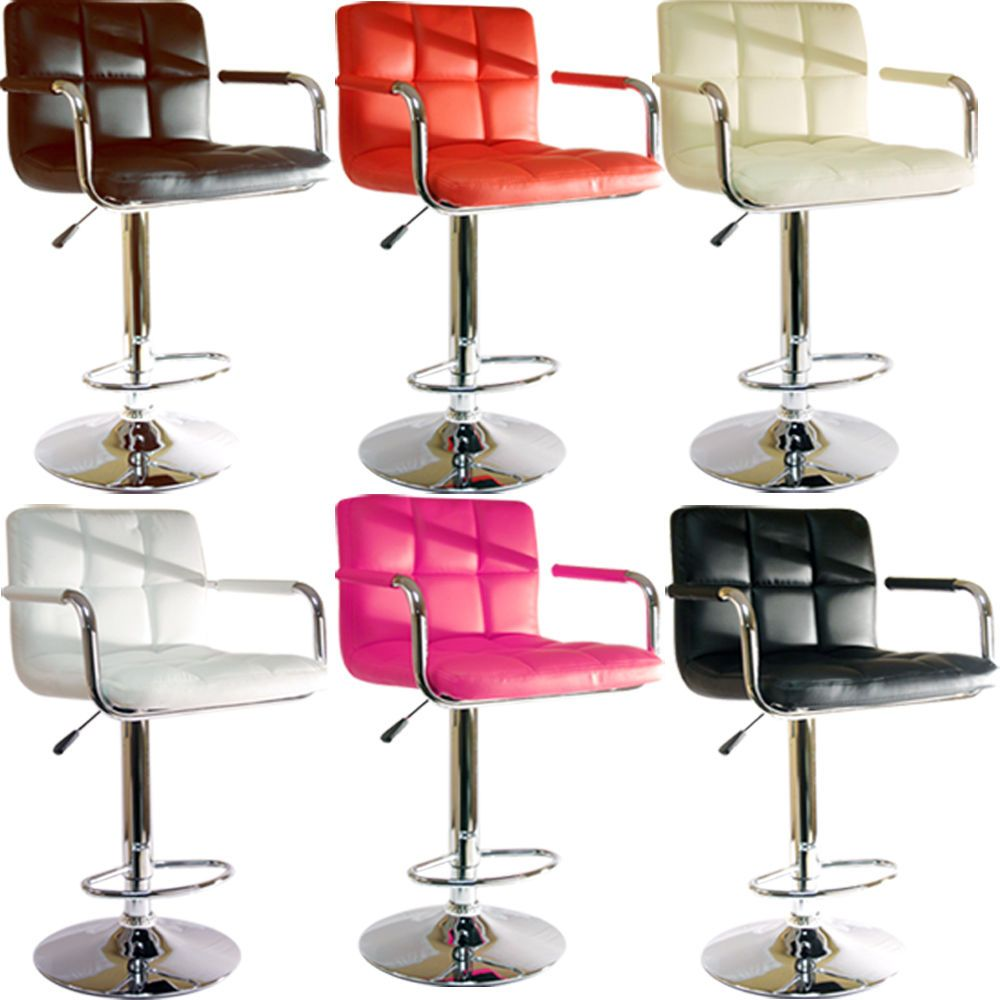 Furniture New Collection Leather Bar Stool With Arm Design And Comfortable On Combined Multi