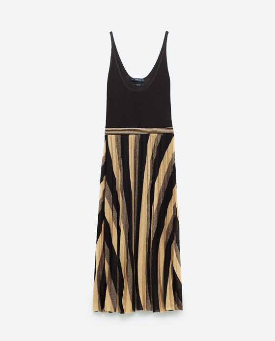 Image 8 of FINE PLEAT KNIT DRESS from Zara