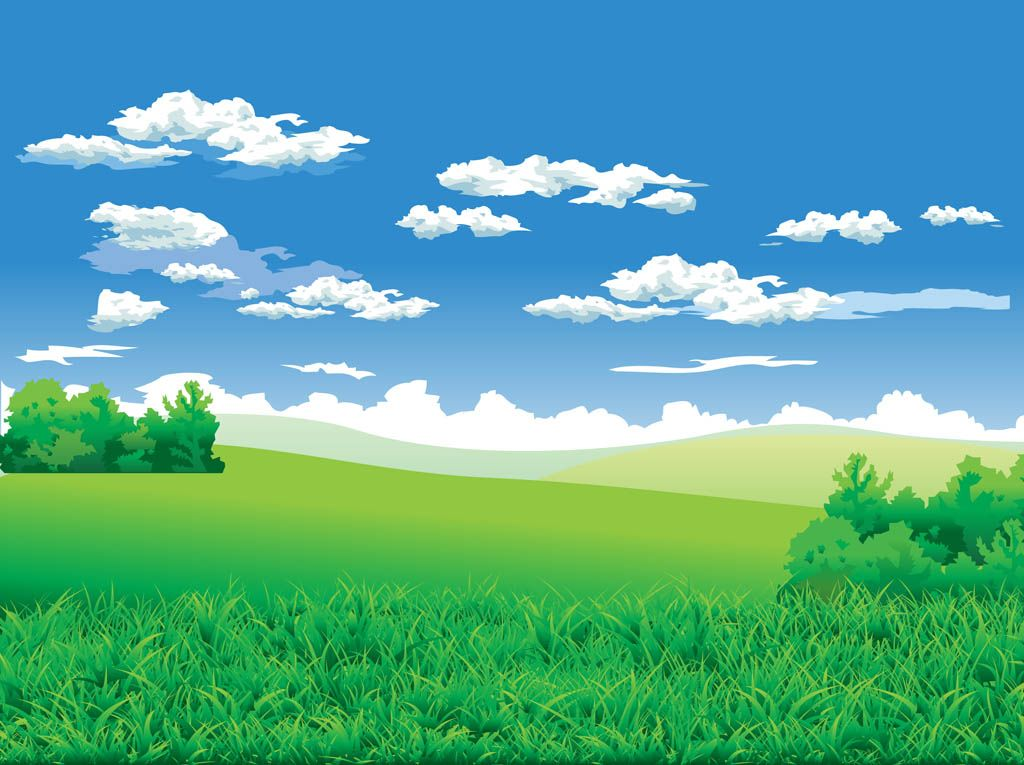 Nature vector footage of a beautiful landscape. Clear sky ...