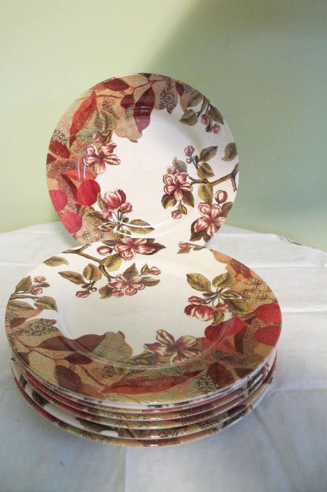 "Royal Stafford Vintage Garden 11"" Floral Dinner Plates England Burslem Pottery #RoyalStafford"